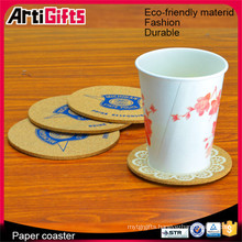 Hand made cheap print gift paper wedding coasters