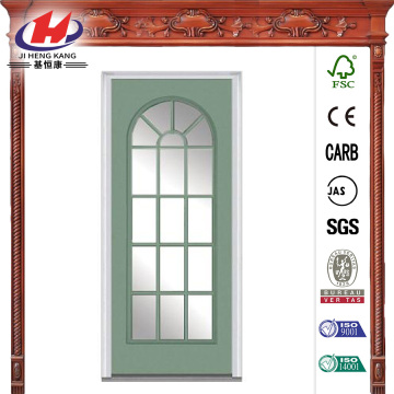 Clear Glass Full Lite Painted Steel Prehung Front Door