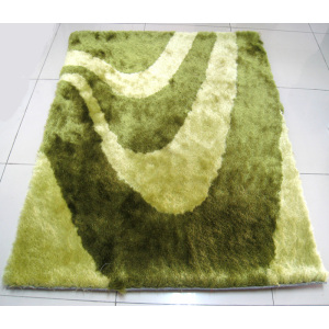 Poliester Silk Shaggy Design Carpet