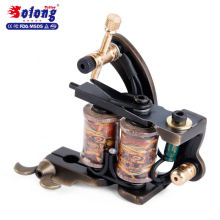 Solong Custom Brass Handmade 8 Wraps Pure Copper Automatic Tattoo Machine Professional Tattoo Coil Machine