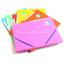 3 Flap Recycle Paper Folder Folder with Elastic Band Closure