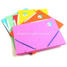 3 Папка с откидной крышкой для вторичной бумаги с эластичной лентой