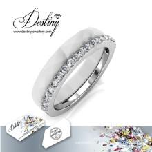 Destino joyas cristales Swarovski anillo de combinación de