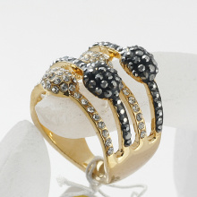 Vintage Palace Princess Luxury crystal Rhinestones Rings women accessories Fashion Jewelry 3 rows rings Wholesale