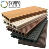 outside wood plastic composite decking with clips