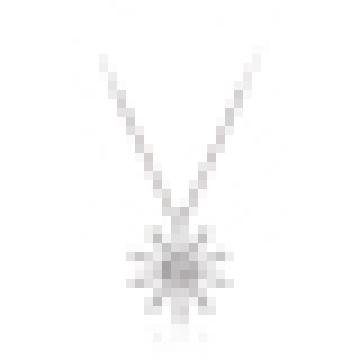 Collier pendentif en forme de soleil en argent 925 pour femme
