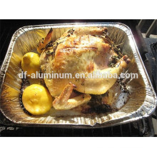 Disposable oval Large Deep Aluminum Foil Roasting Pan in microwave