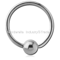 Surgical Steel Fixed Bead Ball Closure Ring