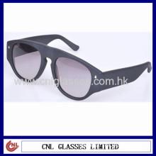 Unisex Matte Black Unique Sunglasses With Wide Temples