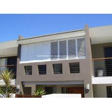 Estrutura residencial ajustável Persiana de janela em pó branco