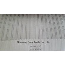 Nouveau tissu de rideau transparent organza de rayures de projet populaire 0082107