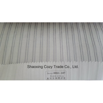 New Popular Project Stripe Organza Voile Sheer Curtain Fabric 0082107