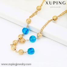 42426 Xuping Artificial Ouro Bead Colar Imitação De Jóias, Longo Colar De Pérolas
