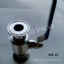 """2-PC SUS316 1 """"válvula de esfera sanitária com alavanca da mão"""