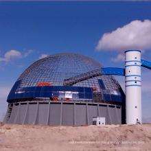 Einfache Installationssicherheit Leichtes Stahldach für die Lagerung von Kohle