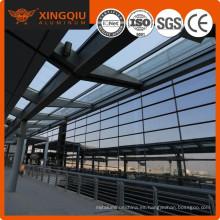 Amplia gama de aplicaciones a medida perfiles de extrusión de aluminio muro cortina