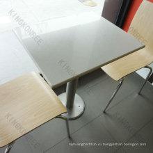 популярный твердый поверхностный столовой столы и стулья