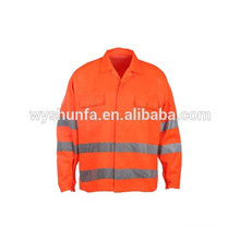 CLASE D / N AS / NZS overoles reflectantes, chaqueta de alta visibilidad con cintas 3M, tejido 100% poli-algodón