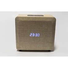 Wooden Alarm Clock Bluetooth Speakers