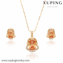 63228-Xuping Fine Jewelry Imitation Wedding Gold Jewelry Set Jewelry Fashion