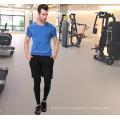 Обычная спандекс/полиэстер Спортивная тренажерный зал футболки для мужчин