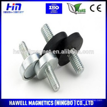 wholesale round base magnets neodymium assemblies with rubber coating