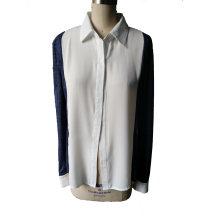 Épaule élégante à tricoter la chemise à manches manches