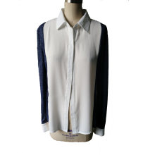 Elegant Splice Knitting The Sleeve Ladies Shirt