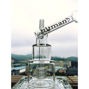 8-Дюймовая буровая труба для высотных труб Стеклянная труба Hitman Стеклянная труба Курительная труба Стеклянная труба Молот для молотка Head Dake Бутылочный водопровод с птичьей клеткой Percolator