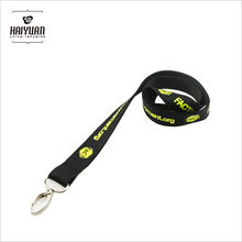 China Origin Black Polyester Neck Strap with Your Own Logo Heavy Metal Hook