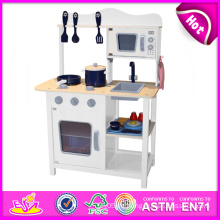 2014 neue hölzerne Spiel Küche, beliebte Kinder Spielzeug spielen Küche, heißer Verkauf Kinder Set spielen Küche Fabrik w10c045w
