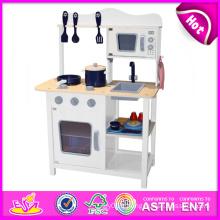 2014 nouvelle cuisine en bois de jeu, cuisine de jeu populaire d'enfants de jouet, vente chaude d'enfants a placé l'usine de cuisine de jeu W10c045W