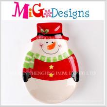 Weihnachtsgeschenk Tisch Haushalt Keramik Schneemann Design Plate