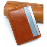 Boshiho vintage oil waxy cowhide leather magic minimalist wallet