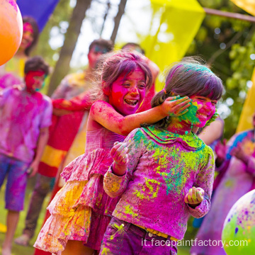 Natural mix festival di colori holi in polvere per l'evento