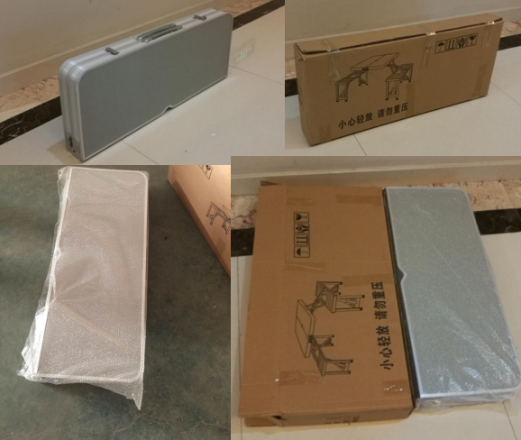 Aluminum folding table