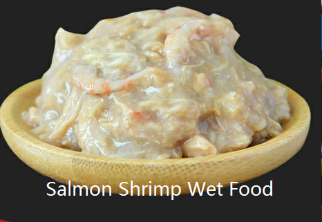 salmon shrimp wet food