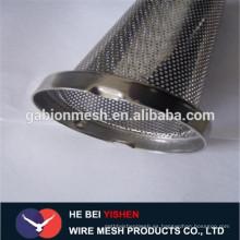 Perforada parrilla de altavoces de malla de metal / buena calidad Tubo de metal perforado
