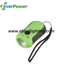 Linterna de aluminio de la manivela del dínamo de 0.5W (DL-5013)