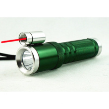 Lampe de poche laser à rayons rouges multifonctions à rayures rouges