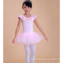 Diseños de los vestidos de los niños de la moda, vestido de ballet de la niña del cordón, trajes del bebé del niño
