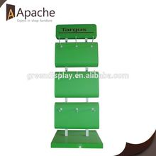 With 12 years experience modern paper floor display stand with wheels