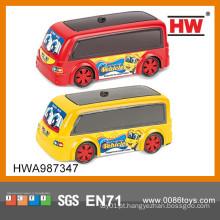 Brinquedos pequenos engraçados do carro do brinquedo do plástico para miúdos mini ônibus plástico do brinquedo