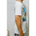 Algodão personalizado atacado moda branco Digital impressão homens t-shirt