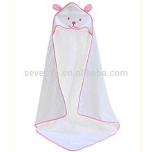 Toalla de baño con capucha de algodón del estilo del perro lindo, blanco / azul / rosa / verde / amarillo Toga de envoltura, recién nacido lindo bañador de baño albornoz