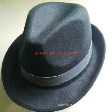 Custom Brand Felt Fedora Chapéu com Sweatband