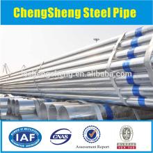 Tailles de tuyaux en acier sans soudure galvanisés