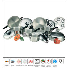 Kitchenware 17PCS T304 Surgical Waterless Stainless Steel Cookware Set