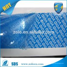 China Fábrica Venta caliente anti prueba de seguridad anti-manipulación de cinta, adhesivo de garantía VOID Custom Tape