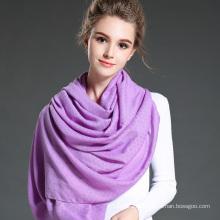 Mulheres no inverno para manter o lenço de lenço de poliéster roxo e macio